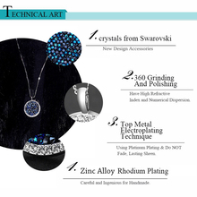 BAFFIN Luxury Genuine Crystals From Swarovski Maxi Round Pendant Necklace Silver Color For Women Party Wedding Accessories Gifts
