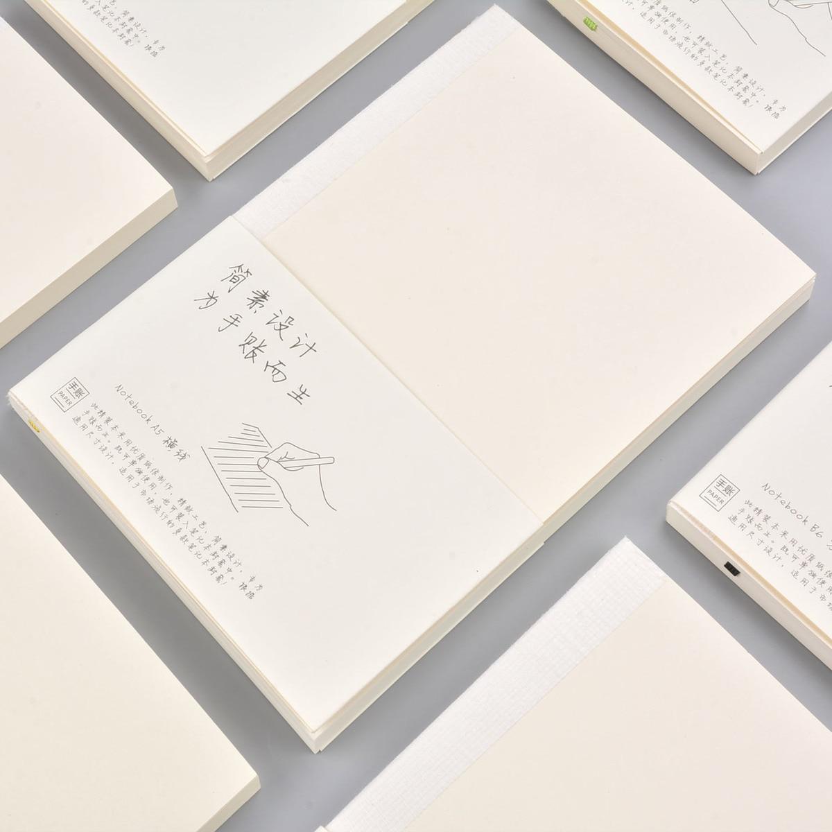100g de papel de cuaderno en blanco básicos bala diario 88 hojas planificador introduzca lácteos relleno para A5 A6 tamaño bolso Original primo cubierta
