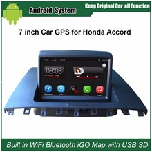 7 inch Capacitance Touch Screen Car Media Player for Honda Accord  2003-2007 GPS Navigation Video player Support Wifi Bluetooth