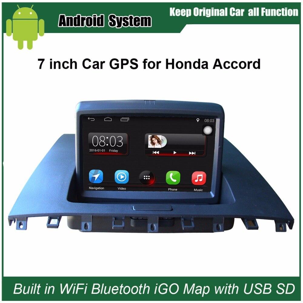 7 pouces Capacitif écran tactile lecteur multimédia de voiture pour Honda Accord 2003-2007 navigation gps lecteur vidéo Soutien Wifi Bluetooth