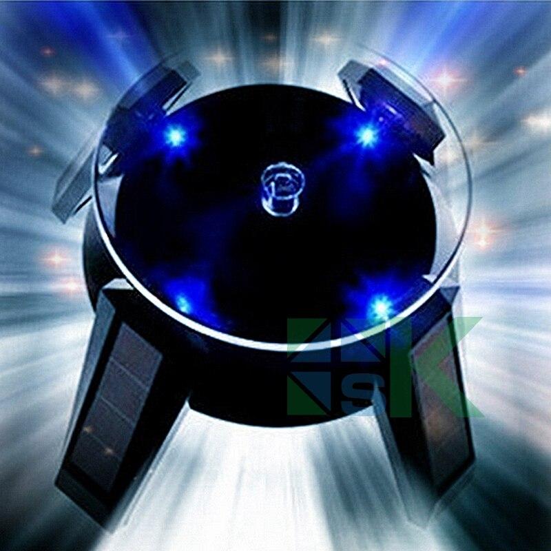 Popular Fashion White Black New Solar Power 360 Degree Rotating Display Stand For Glasses Phone Beads Bracelet Watch Holder Rack