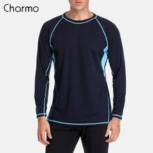 Charmo Мужская рубашка с защитой от ультрафиолета топ upf 50
