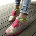 Mujeres de la manera zapatos casuales zapatos de mujer zapatos de lona planos de las mujeres con cordones zapatos de plataforma moda chaussure femme 2016 nuevo