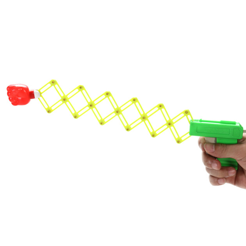 Fun Classic Elastic Child Kids Toy Retractable Fist Shooter Trick Toy Gun Gags Joke Toy Funny Party Festival Gift