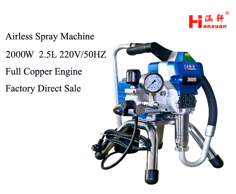 2019 Airless Paint Sprayer High Pressure Electric Painting Machine 395 495 With Spraying Gun Factory Selling Paint Tool From Nqingfeng 706 34