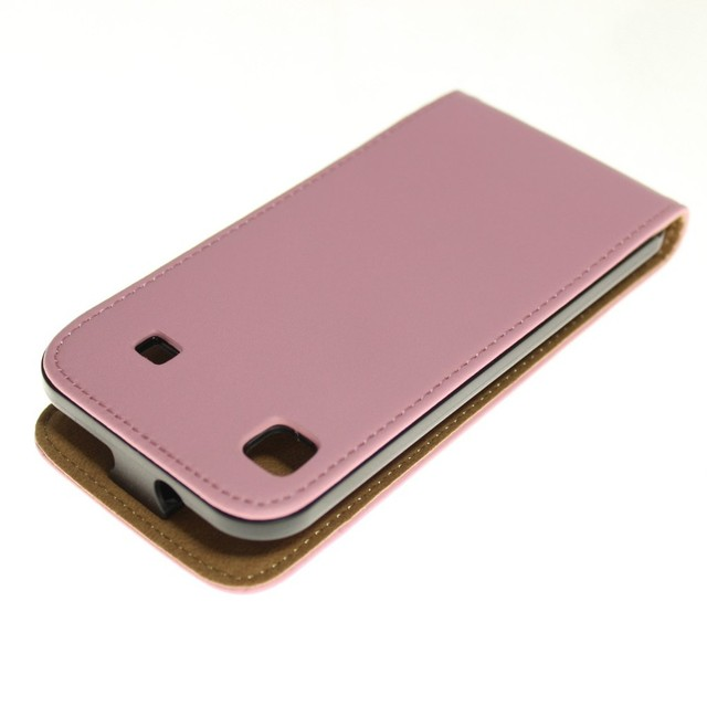 Luxury Genuine Real Leather Case Flip Cover Mobile Phone Accessories Bag Retro Vertical For Samsung I9000 GALAXY S I9001 PS