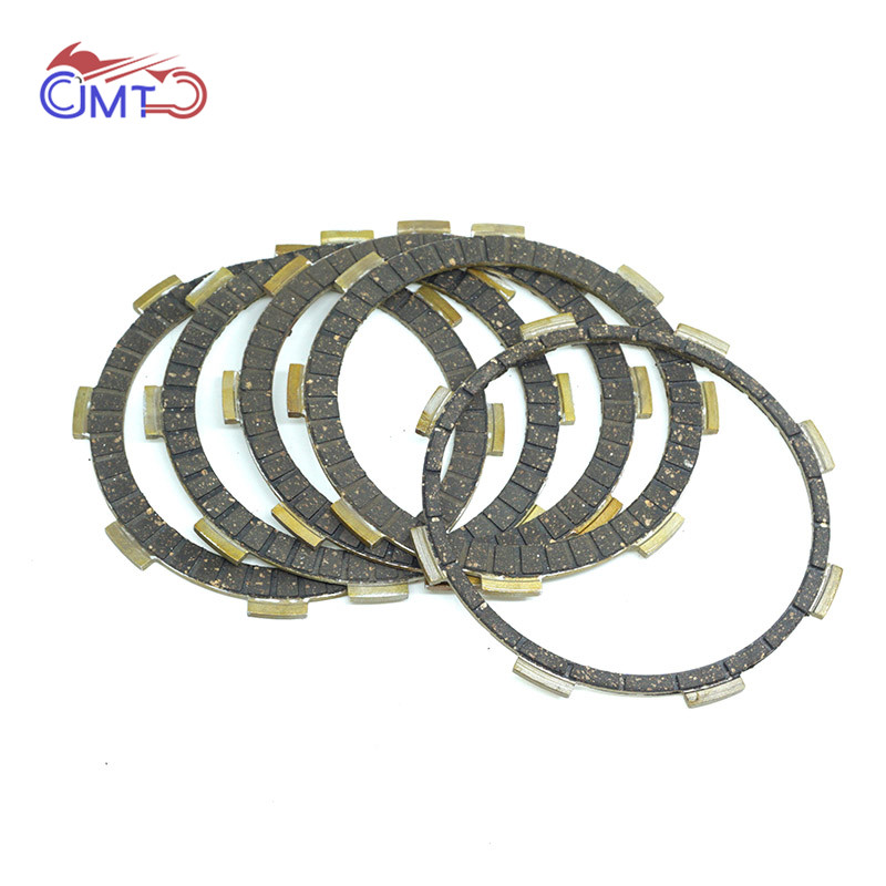 For Honda NX125 1988-1989 CB223S 2008-2016 FTR223 2000-2016 Clutch Friction Disc Plate Kit 5 Pieces
