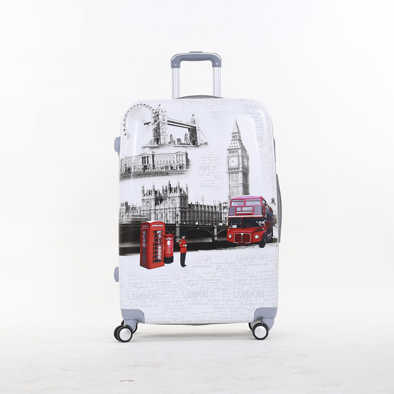 20 inch pc hardside boarding trolley luggage,london telephone booth travel luggage bags on universal wheels for man and woman