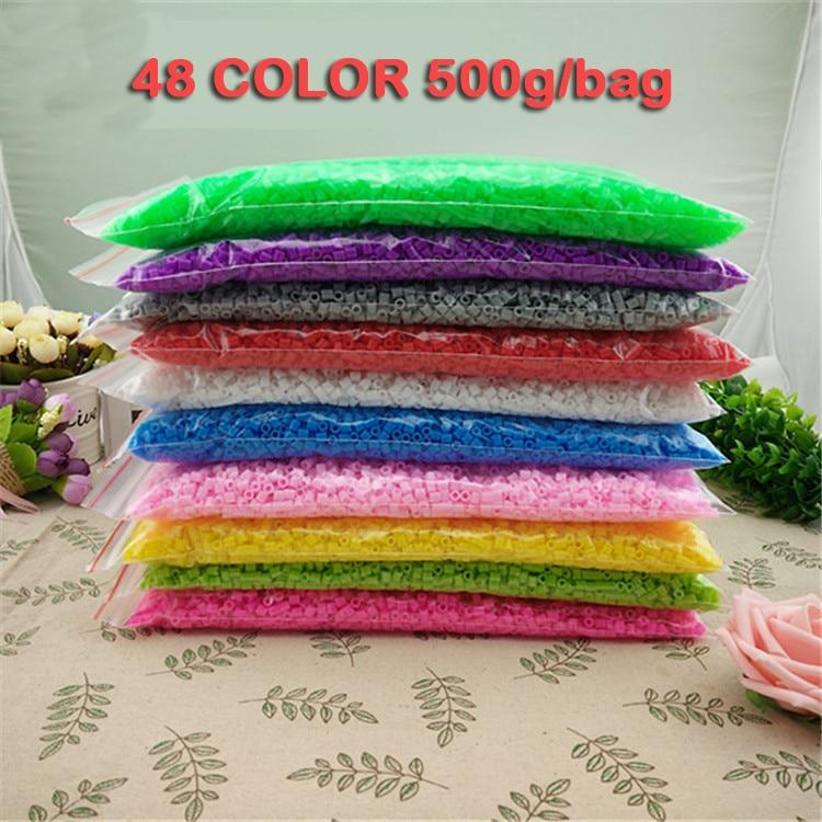 500g/bag 48 Color Perler Beads ironing beads 5mm Hama Beads Fuse Beads jigsaw puzzle diy стоимость