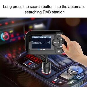 Image 3 - DAB 105 多機能ワイヤレスカーキット 5 V/2.1A 液晶ディスプレイ充電器の Bluetooth ハンズフリーキット Mp3 プレーヤー DAB アダプタ FM トランスミッタ