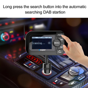 Image 3 - DAB 105 משולב אלחוטי לרכב 5 V/2.1A LCD תצוגת מטען לרכב Bluetooth דיבורית Mp3 נגן DAB מתאם FM משדר