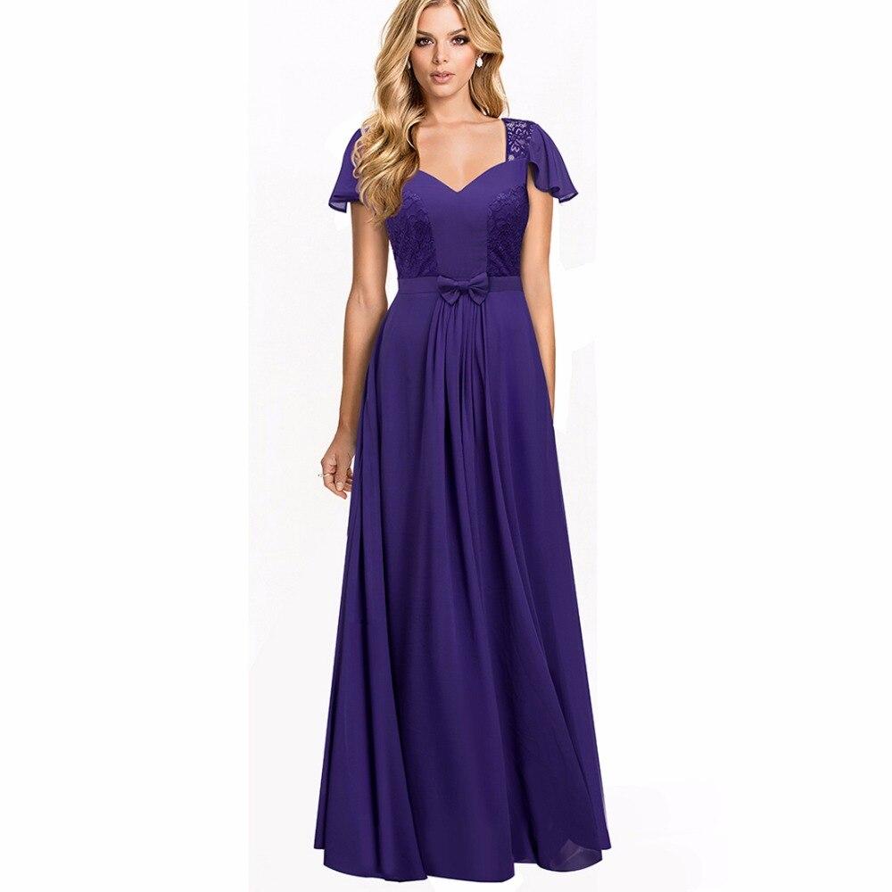 ②Mujeres elegante lindo largo Maxi vestido de fiesta vintage pinup ...
