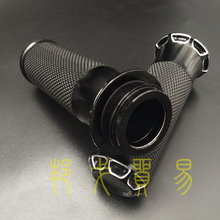 BAGGER 125mm Grips Motorcycle Aluminum Alloy Rubber Handle Hand Grips For Harley Sportster Softail Harley Series Touring V-Rod qc h 298 replacement motorcycle aluminum alloy mechanical cutting handle grips black pair