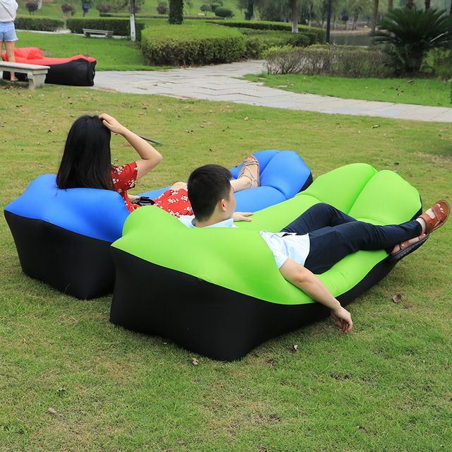 New Design 2019 Camping Mat lazy sofa Inflatable air Sofa Beach Bed Lounge Lazy Bag Mattress Sleeping bed Air Sofa Bed Lounger