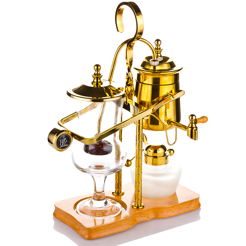 WUXEY Royal coffee pot Household Belgian pot Siphon Coffee maker BH-271 Gold and silver benefit goof proof brow pencil карандаш для объема бровей 05 deep тёмно коричневый
