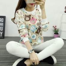 Winter Soft Sweater 2018 Fashion Cute Little Panda Print Harajuku Casual Women Sweater High Quality Flannel Pull Warm Sweater(China)