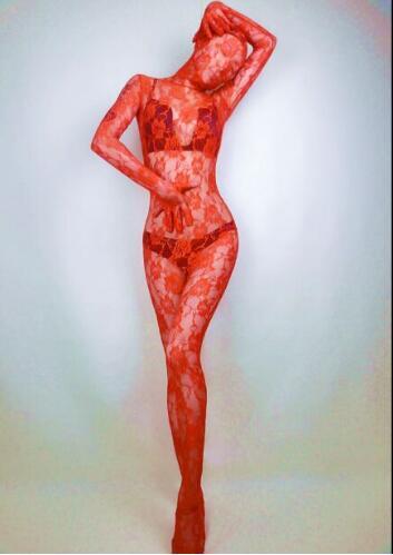 High end das Mulheres & Homens de alta Renda elástica das Mulheres & Homens Zentai Ternos amante sexy Moda traje do estágio cantora DJ do revestimento do vestuário