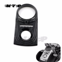 Motorcycle Front Instrument Cauges Dash Panel Insert Decorative Cover For Harley Softail Dyna Fat Boy Wide Glide FLST FXST FXSB