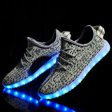 2016 Fashion LED Lighted Shoes for Adults Men Women Luminous Shoes Tenis LED Glow Shoe Unisex USB Rechargeable Light LED Shoes