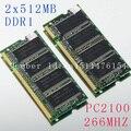 Ноутбук памяти Новый 1 ГБ 2X512 МБ PC2100 DDR266 SODIMM 200PIN 266 мГц Ноутбук Памяти SO-DIMM ОПЕРАТИВНОЙ ПАМЯТИ Ноутбука НОВЫЙ Бесплатная Доставка