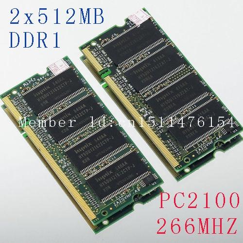 Memoria para portátil Nuevo 1GB 2X512MB PC2100 DDR266 200PIN SODIMM - Componentes informáticos