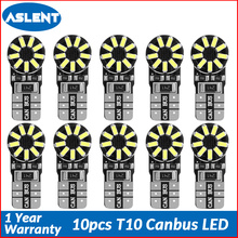 Aslent 10pcs T10 W5W 194 LED Car Light Bulb White Canbus Error Free Clearance Break Lights Turn Signal Reading Decoding Lamp 12V