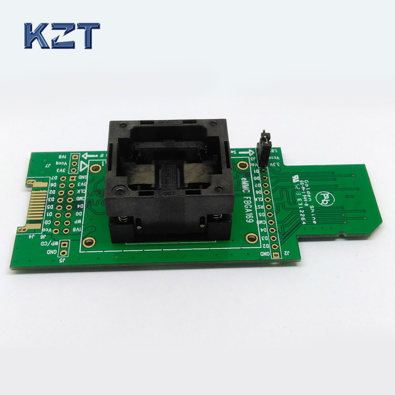 все цены на eMMC test Socket to SD interface for nand flash testing BGA169 BGA153 Reader Pitch 0.5mm Size 11.5x13mm For Reading Writing Data онлайн