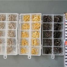 1500pcs #3~#12 Carbon Steel Fishing Hooks Fish Hook Freshwater Silver Gold Bronze Golden Black Silver Hooks Fishhooks Box Set