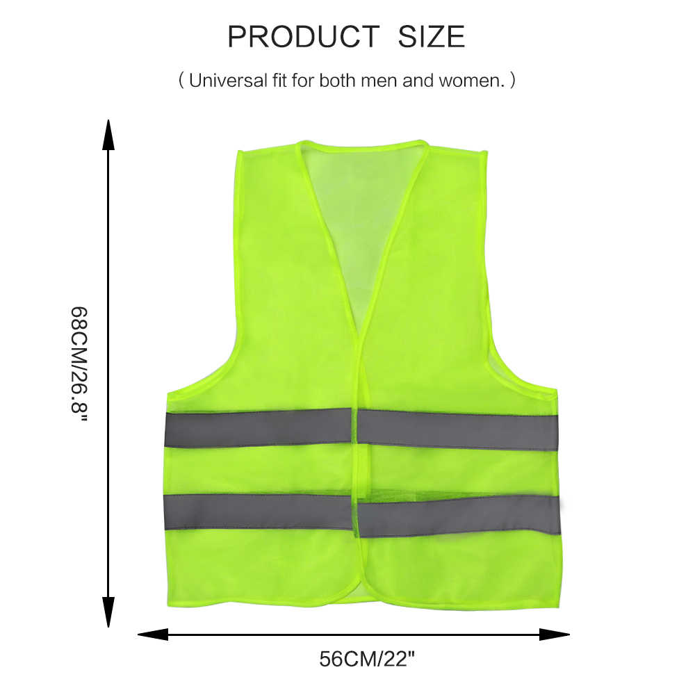 ALLOMN Yelek Moto Motosiklet Yüksek görünür yansıtıcı güvenlik yeleği uyarı yeleği Yansıtıcı Çizgili Ceket