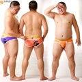 2016 Nova Chegada Urso Garra Expor Meia Nádegas Briefs Plus Size dos homens shorts sexy gay underwear urso roxo & orange m l xl xxl