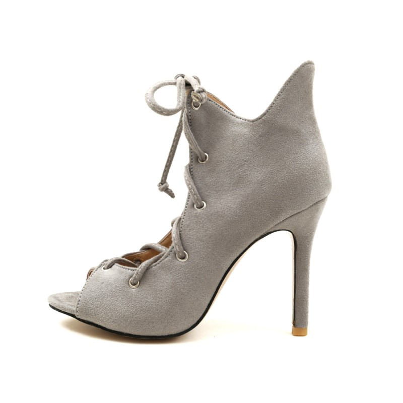SLHJC Boots Summer High Stiletto Heels Peep Toe Sandals Shoes Lace Up Sexy High Heel Pumps Women Boots Sandals 10 CM Heel 42-35