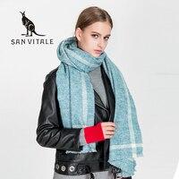 Schals Frauen Schal Mode Cape Wolle Zubehör Stirnband Bekleidung Winter Warme Kaschmir Plaid Pashmina Für Kleid Luxus Marke