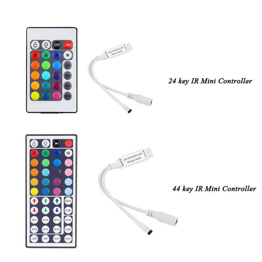 Sterownik Led 44 klawisze 24 klawisze LED RF IR kontroler RGB światła LED kontroler RF zdalne ściemniacz DC12V dla RGB 3528 5050 taśmy LED