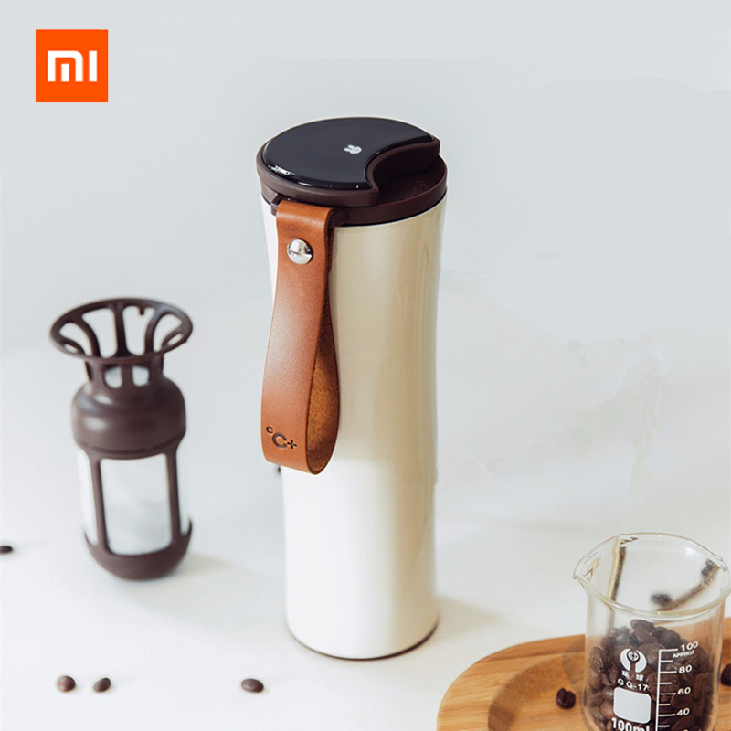 Xiaomi Original kiss kiss fish Smart Stainless Steel Thermal Vacuum Water Bottle Sensitive Temperature Sensor with Coffee BrewerXiaomi Original kiss kiss fish Smart Stainless Steel Thermal Vacuum Water Bottle Sensitive Temperature Sensor with Coffee Brewer