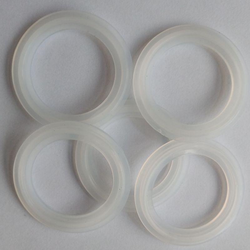 5 PCS 1.5 Sanitary Tri Clamp Silicon Gasket Fits 50.5mm Type Ferrule Flange W1-SSG-1.5-38 5 pcs 1 5 ptfe gasket fits 50 5 mm od sanitary tri clamp type ferrule flange spg 1 5 38