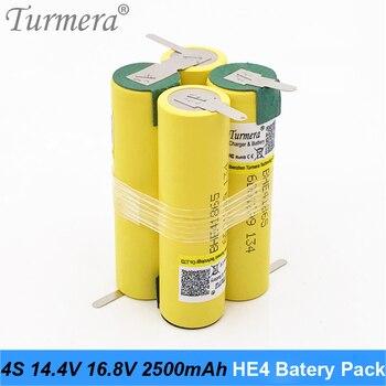 Original HE4 3S 12,6 V 4S 16,8 V batería 18650 HE4 2500mah 20A corriente de descarga para batería de destornillador shura (personalizar) AP