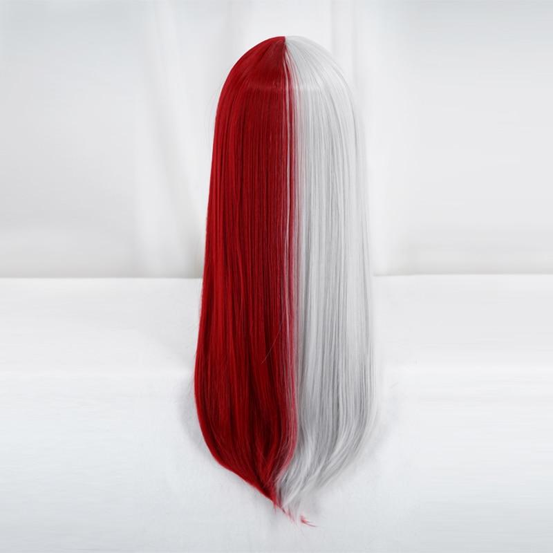 My Hero Academia Todoroki Shoto Long Wig Cosplay Costume Boku no Hero Academia Women Heat Resistant Hair Halloween Party Wigs 4