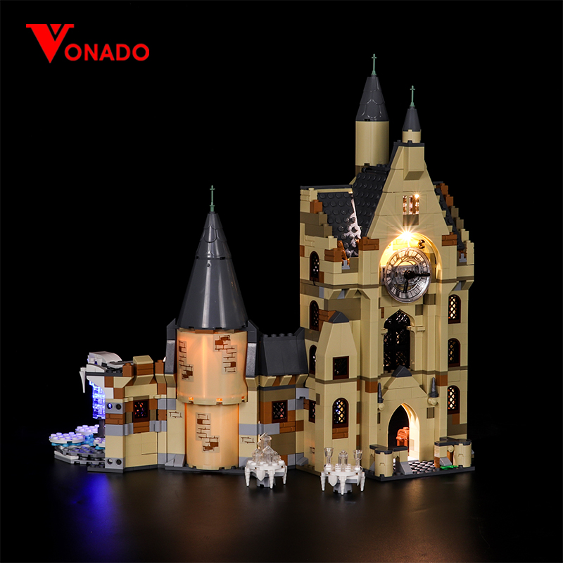 Vonado LED For Lego 75948 Hogwarts Clock Tower LED Lighting Fixture Set Building Blocks Toys P140