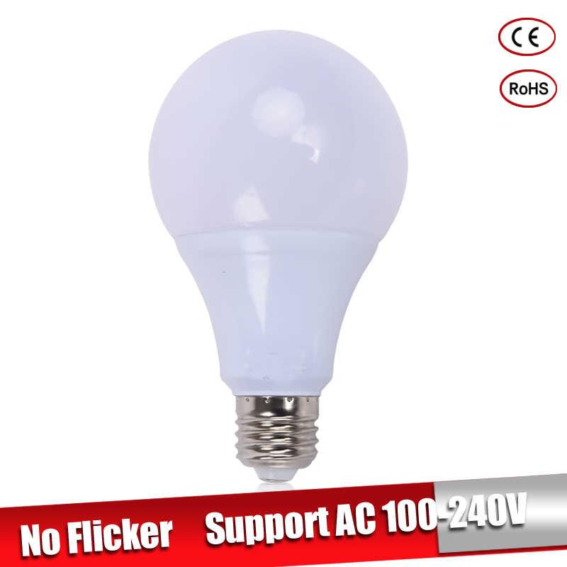 Bombillas LED E27 220 v 110 v 3 w 5 w 7 w E14 lamparas led 9 w 12 w 15 w Led אור הנורה לנברשת קר חמה לבית