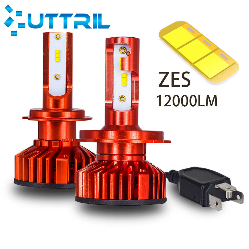 Uttril 2 Pcs Mini Size H4 H7 H11 LED  Car Light H1 H3 H8 H9 9005 HB3 9006 HB4 880 881 H27 6000K LED Bulb 12V  Car Accessories