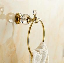 Настенные латунь и золото кольцо, Высокое качество полотенцедержатель, Одного полотенец аксессуары для ванной комнаты
