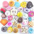 Новое Поступление 12 ШТ. Случайная Отправленные Kawaii Squishies Много Кексы Panda Бун Тосты Нескольких Пончики