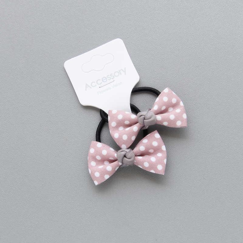 Cheveux corde gracieuse vague Bowknot point pinces à cheveux bande de cheveux princesse enfants tissu enfants réglable filles élastiques bandeaux 1 paire