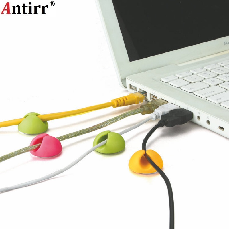 Antirr Clips Cable-Organizer Charger Earphone Usb-Cable Phone-Charging Desktop-Wire-Storage