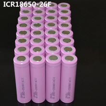 Baterias de Iões 32 Pçs e lote Original 18650 Icr18650-26f 3.7 V 2600 MAH de Lítio Bateria Recarregável Baterias Seguras USO Industrial
