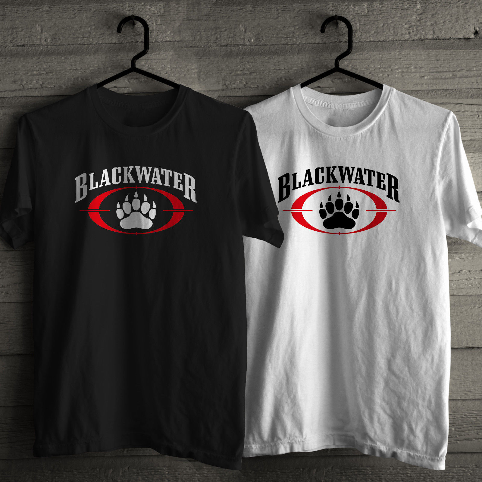 Black t shirt security - Blackwater Custom Made Good Quality T Shirt Private Security Company Short Sleeve Black Or White