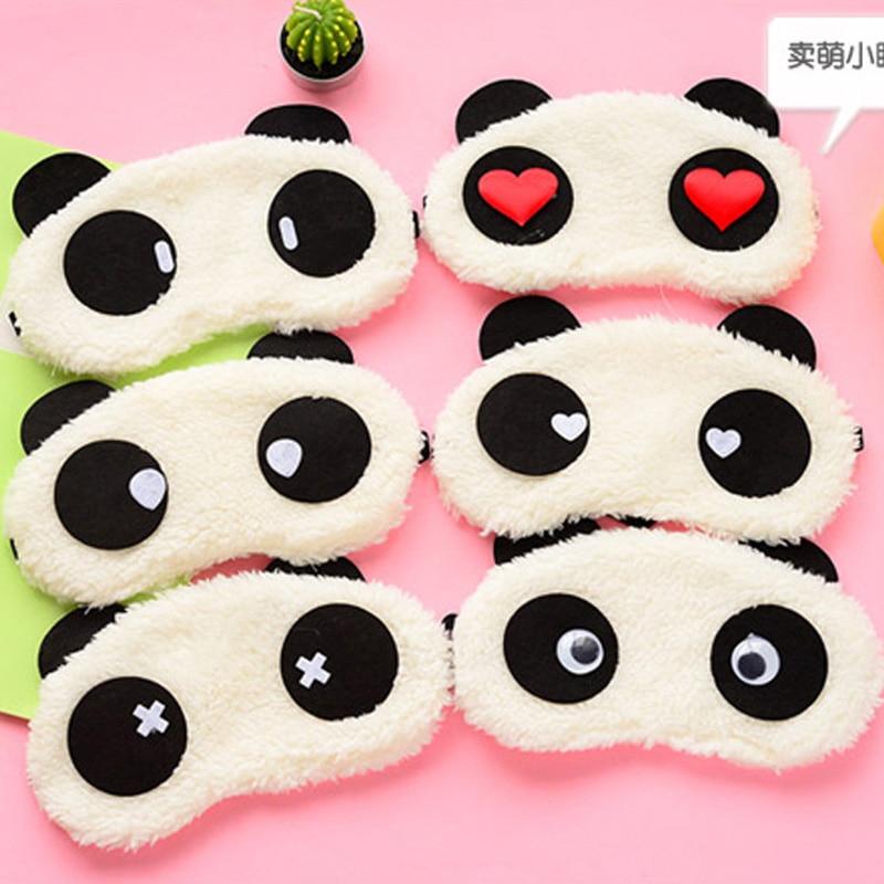 1pc Plush Panda Eye Mask Cartoon Animals Party Mask For Girls Gift Travel Relax Blindfold Sleeping Shading Eyeshade Eyepatch
