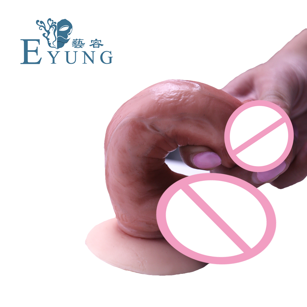 EYUNG 5.5 inch Strong suction cup penis Artificial Valentine's Day Gift dildos for wife Adult Sex toys Big dick G point massage thierry super realistic dildo suction cup male artificial penis large flexible dick sex toys for woman adult masturbator dildos