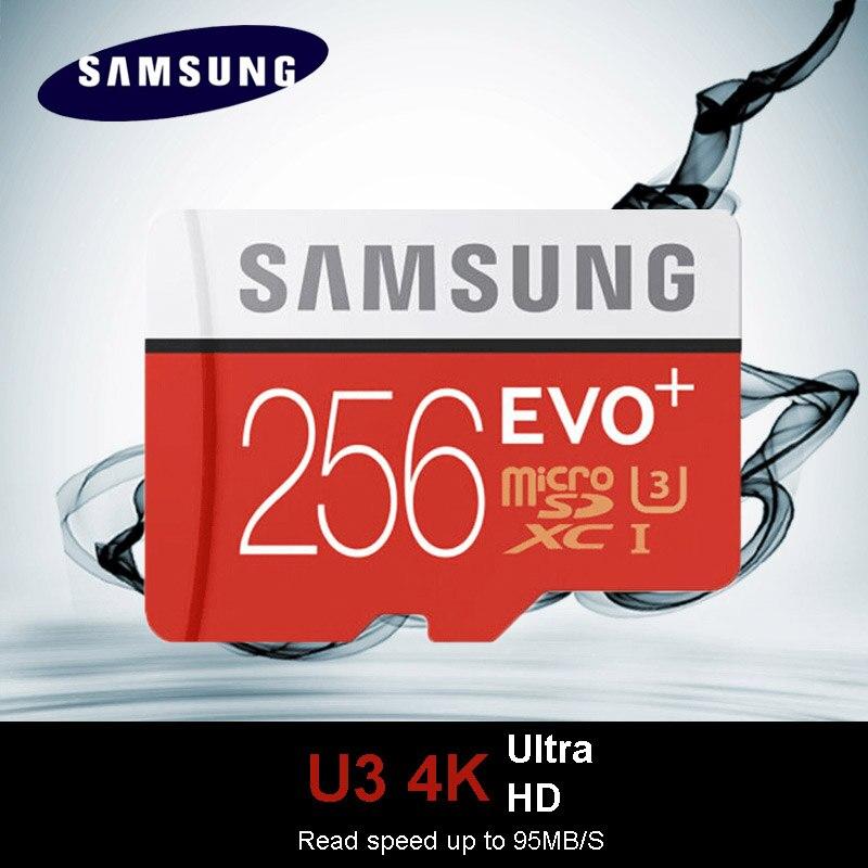 SAMSUNG EVO Plus Class10 carte mémoire micro sd 256GB 95 mo/s étanche TF Memoria carte Sim Trans Mikro carte pour téléphone intelligent 256 go - 4