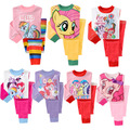 2015 горячая распродажа мой маленький Grils пони одежда пижамы комплект весна и осень дети для девочек принцесса Pyjama оказать верх + брючный костюм